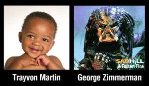 Baby Trayvon and Predator Zimmerman